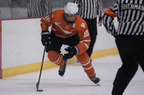 UT's Nic Samadian skates with the puck in Friday's game.