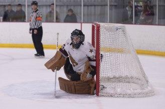 Matt Padgett sealing the net in Friday's game.